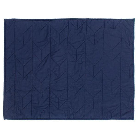 Navy Blue Chevron Quilt Sham