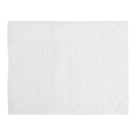 Soft White Chevron Quilt Sham