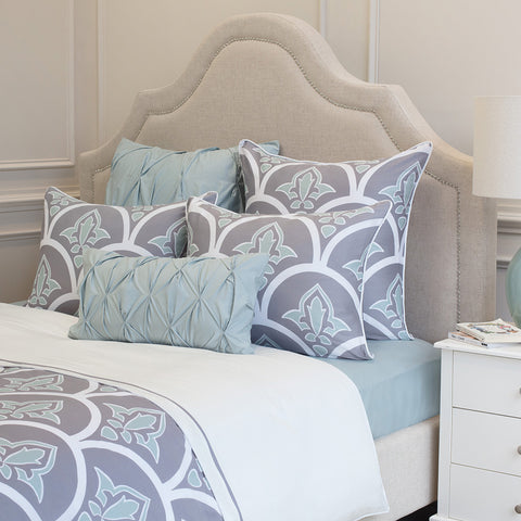 Bedroom inspiration and bedding decor | The Clementina Grey Duvet Cover | Crane and Canopy