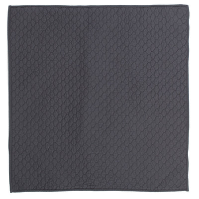 Charcoal Grey Cloud Quilt Euro Sham