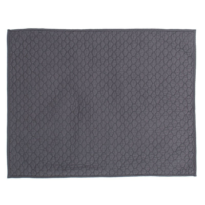 Charcoal Grey Cloud Quilt Sham