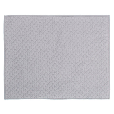 Light Grey Cloud Quilt Sham