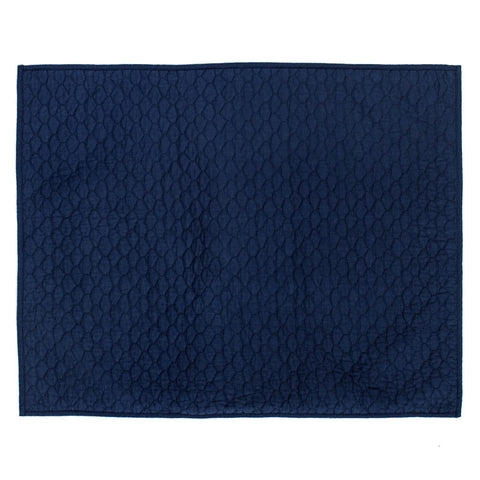Navy Blue Cloud Quilt Sham