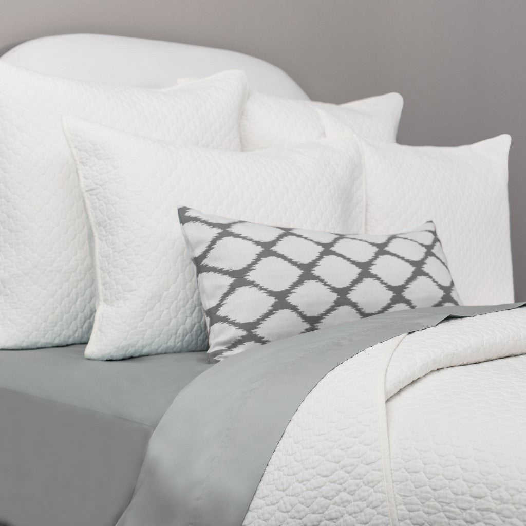 Bedroom inspiration and bedding decor | Soft White Cloud Quilt Sham Duvet Cover | Crane and Canopy