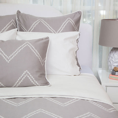 Bedroom inspiration and bedding decor | The Cora Gray Duvet Cover | Crane and Canopy