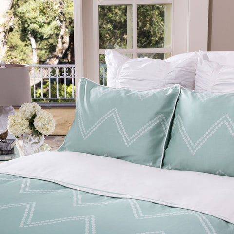 Bedroom inspiration and bedding decor | The Cora Green Duvet Cover | Crane and Canopy