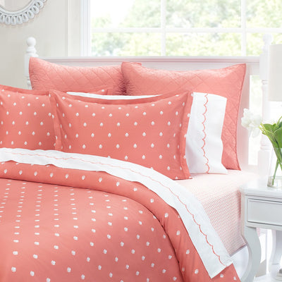 Bedroom inspiration and bedding decor | Coral Flora Duvet Cover Duvet Cover | Crane and Canopy