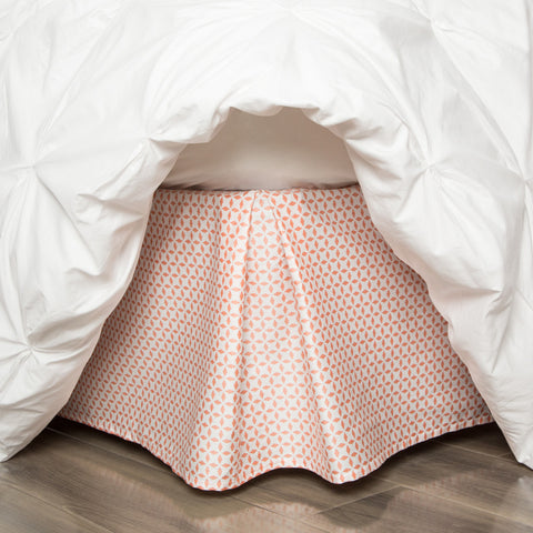Coral Morning Glory Bed Skirt
