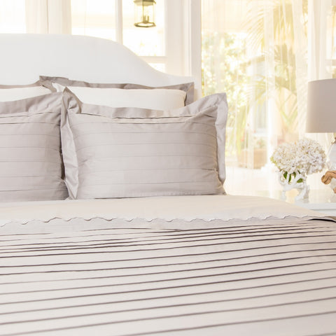 Bedroom inspiration and bedding decor | The Cortland Gray Duvet Cover | Crane and Canopy