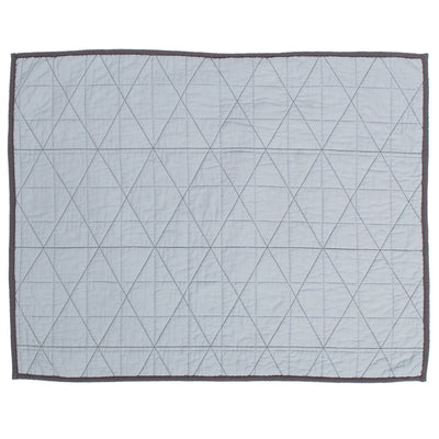 Diamond Box-Stitch Light Blue Quilt Sham