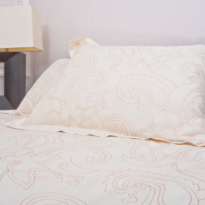 Bedroom inspiration and bedding decor | The Dolores Coral Duvet Cover | Crane and Canopy