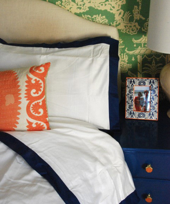 Crane and Canopy Designer Bedding as seen in Effortless Style