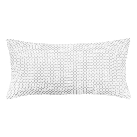 Grey Morning Glory Throw Pillow