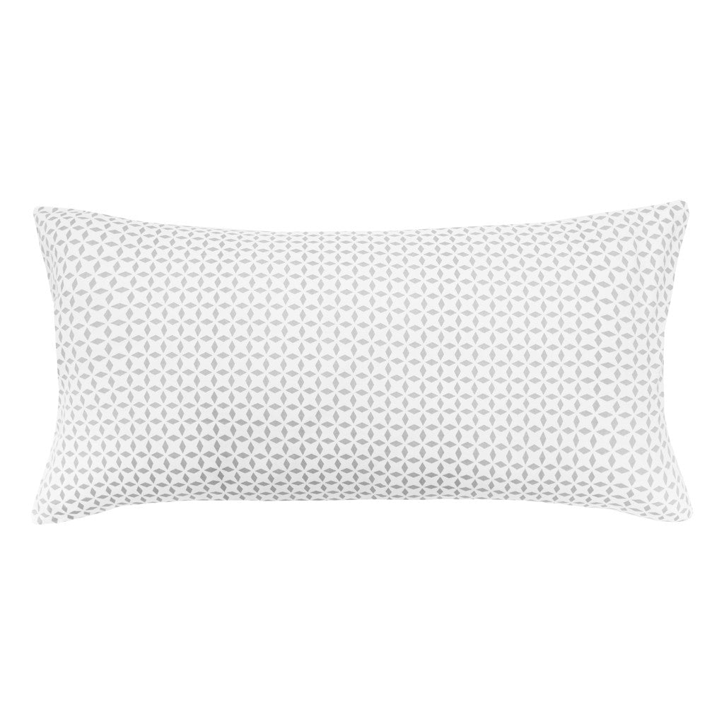 The Grey Morning Glory Throw Pillow | Crane