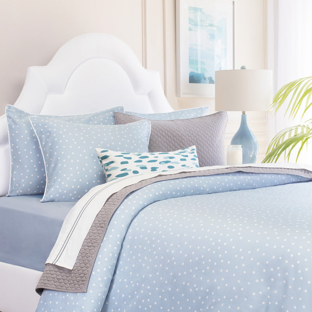 Blue polka dot bedding - Bedroom Inspiration And Bedding Decor The Elsie Blue Duvet Cover Crane And Canopy