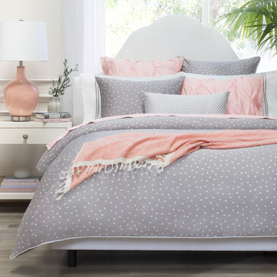 Bedroom inspiration and bedding decor | The Coral Solid Linen Throw | Crane and Canopy
