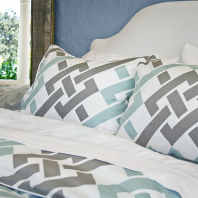 Bedroom inspiration and bedding decor | The Fillmore Blue Duvet Cover | Crane and Canopy
