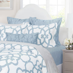 Bedroom inspiration and bedding decor | The Florentine Blue | Crane and Canopy