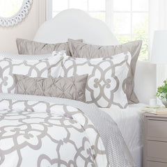 Great site for designer bedding | The Florentine Dove Grey