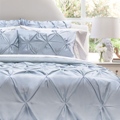 Bedroom inspiration and bedding decor | French Blue Valencia Pintuck Duvet Cover Duvet Cover | Crane and Canopy