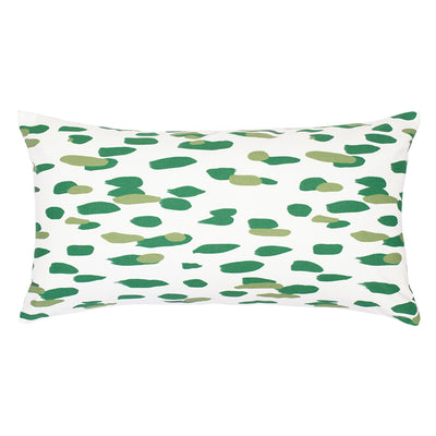 Green Brushstrokes Throw Pillow