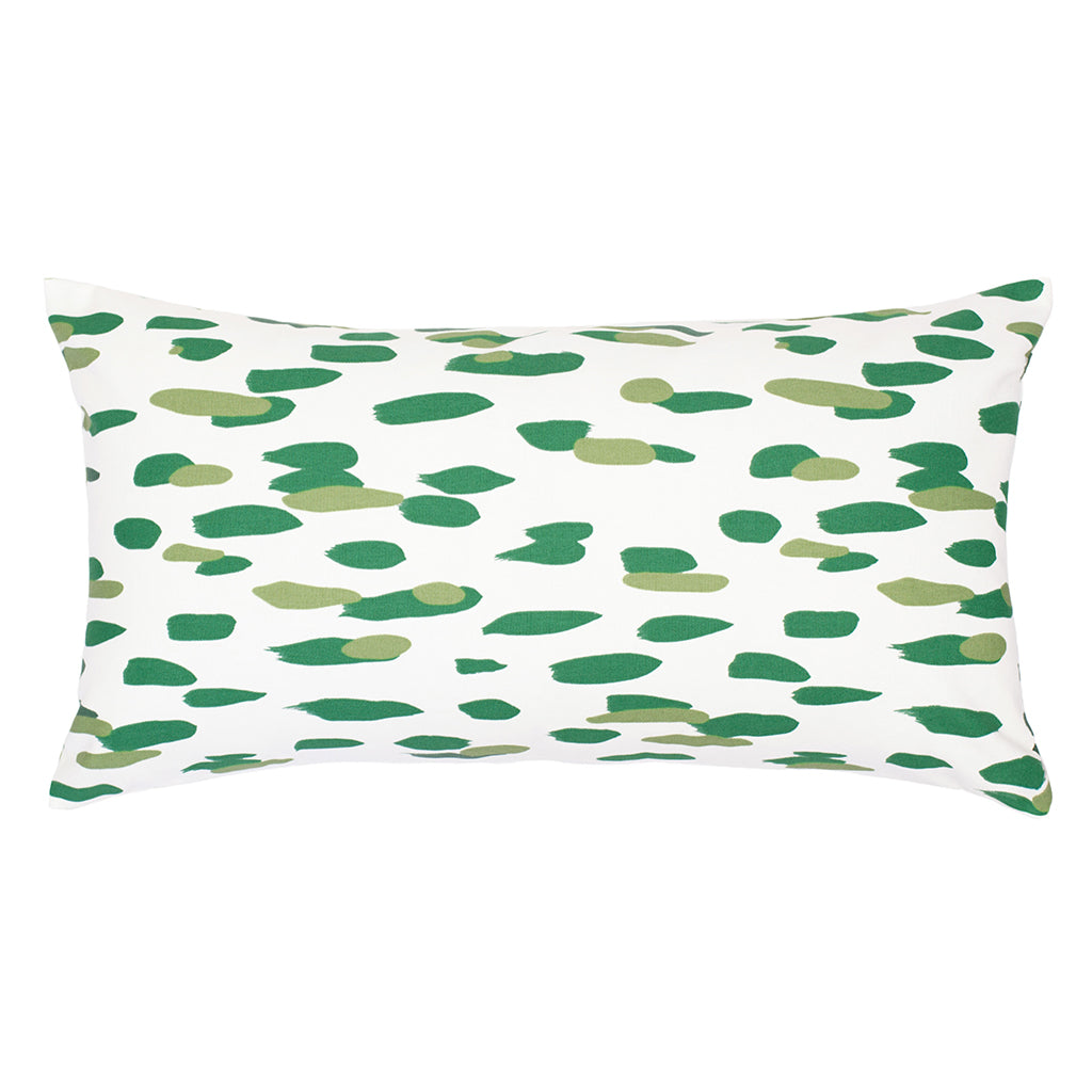 Bedroom inspiration and bedding decor | The Green Brushstrokes Throw Pillows | Crane and Canopy