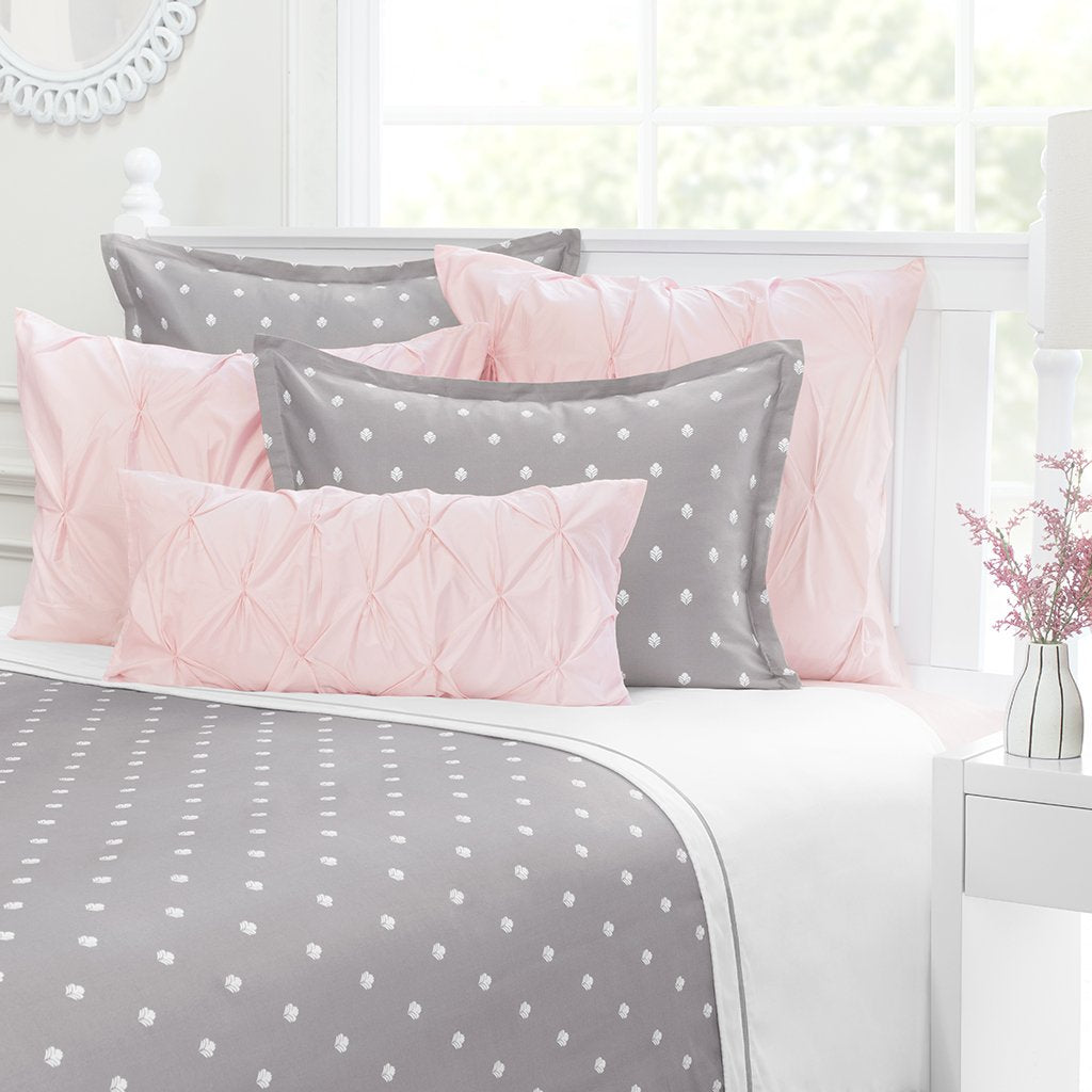 Bedroom inspiration and bedding decor | Grey Flora Sham Duvet Cover | Crane and Canopy