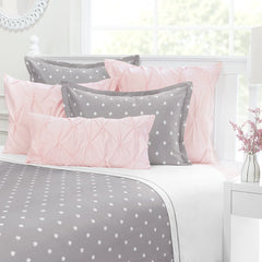 Great site for designer bedding | The Flora Grey