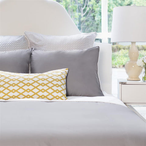 Bedroom inspiration and bedding decor | The Hayes Nova English Grey Duvet Cover | Crane and & All Bedding | Crane u0026 Canopy