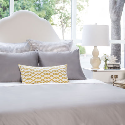 Bedroom inspiration and bedding decor | The Hayes Nova English Grey Duvet Cover | Crane and Canopy