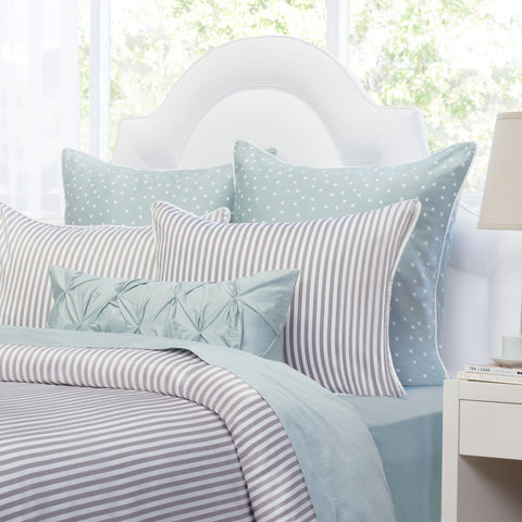 bedroom inspiration and bedding decor the larkin grey crane and canopy - Striped Sheets