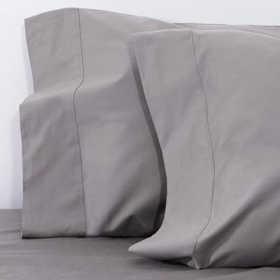 English Grey 400 Thread Count Pillow Case