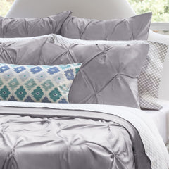 Great site for designer bedding | The Valencia Grey Pintuck