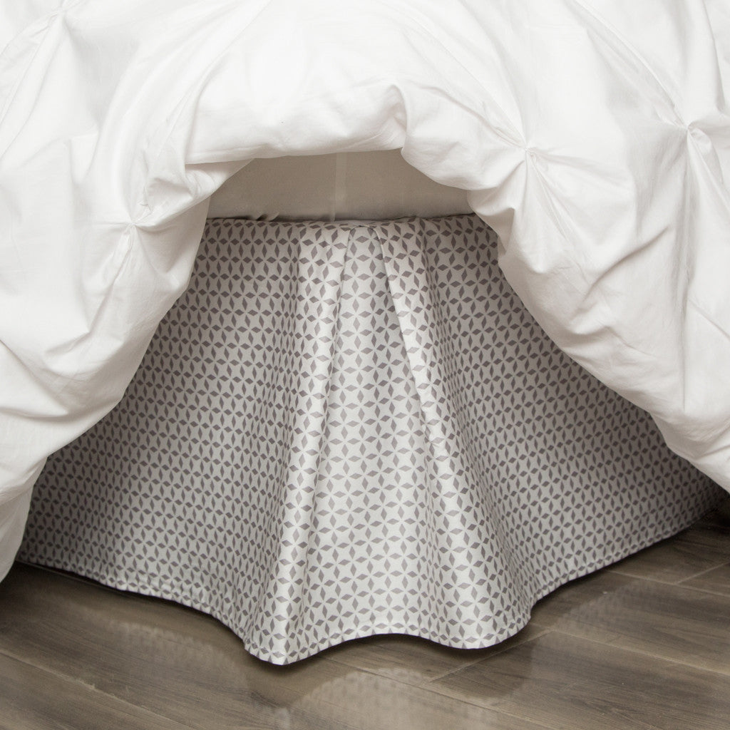 Bedroom inspiration and bedding decor | The Grey Morning Glory Patterned Bed Skirt Duvet Cover | Crane and Canopy