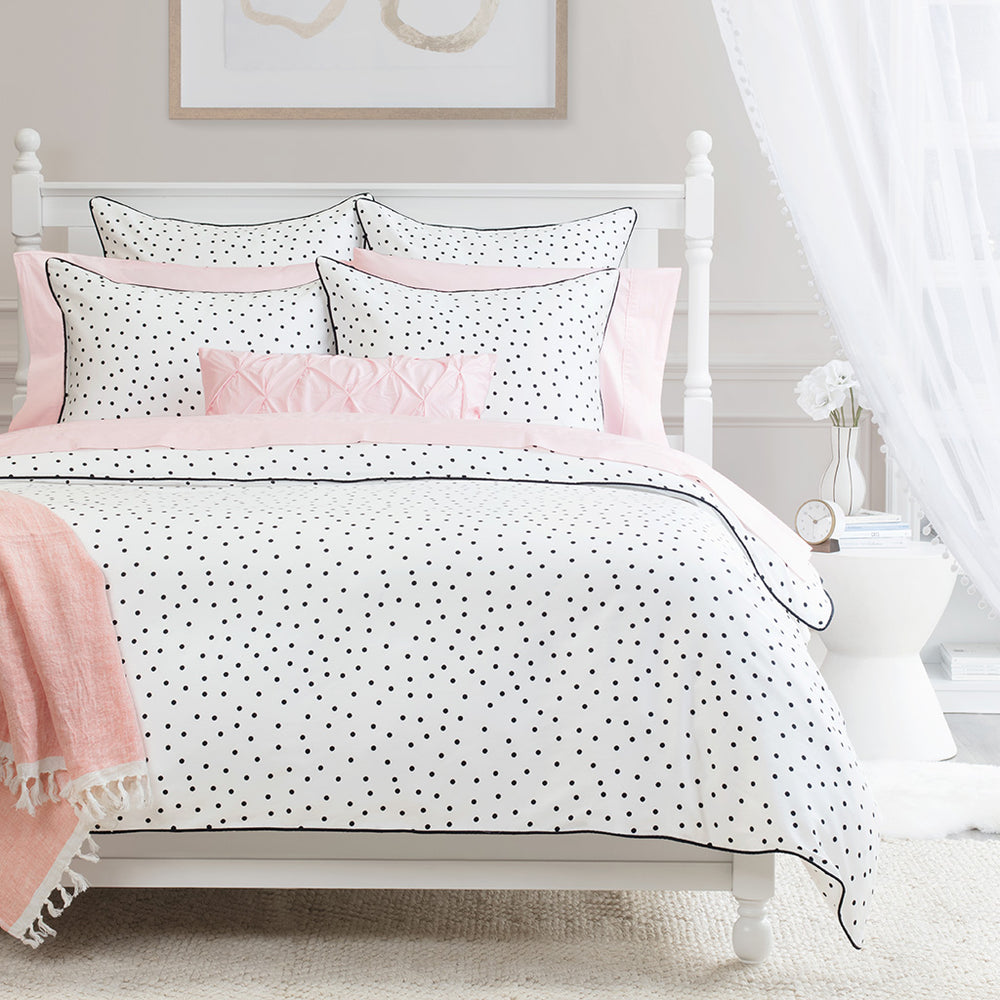 White bed sheets Bedroom The Harper Black And White Bedroom Inspiration And Bedding Crane Canopy All White Bedding Crane Canopy