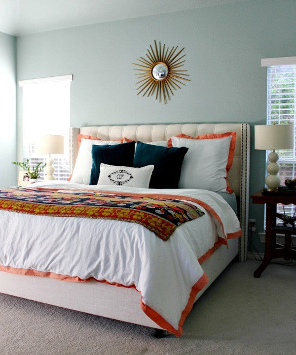 Crane and Canopy Designer Bedding as seen in Hi Sugarplum