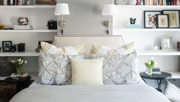 Crane and Canopy Designer Bedding as seen in House of Earnest