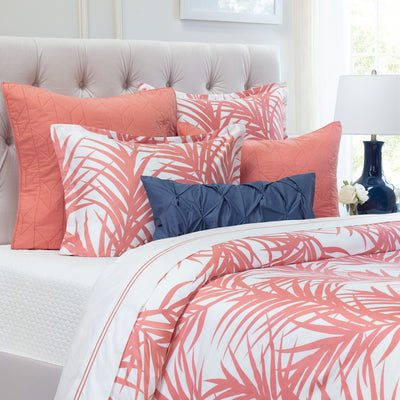 Bedroom inspiration and bedding decor | Coral Laguna Euro Sham Duvet Cover | Crane and Canopy
