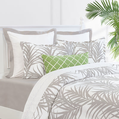 Bedroom inspiration and bedding decor | The Laguna Dove Grey Duvet Cover | Crane and Canopy