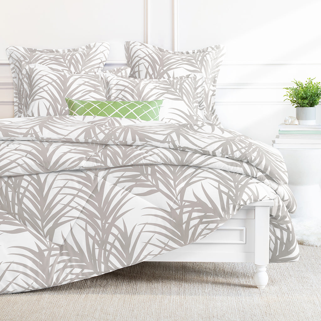 Bedroom inspiration and bedding decor | Laguna Dove Grey Comforter Duvet Cover | Crane and Canopy