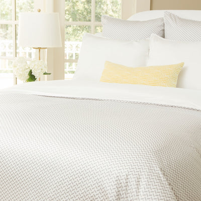 Bedroom inspiration and bedding decor | The Larkin Grey (discontinued) Duvet Cover | Crane and Canopy