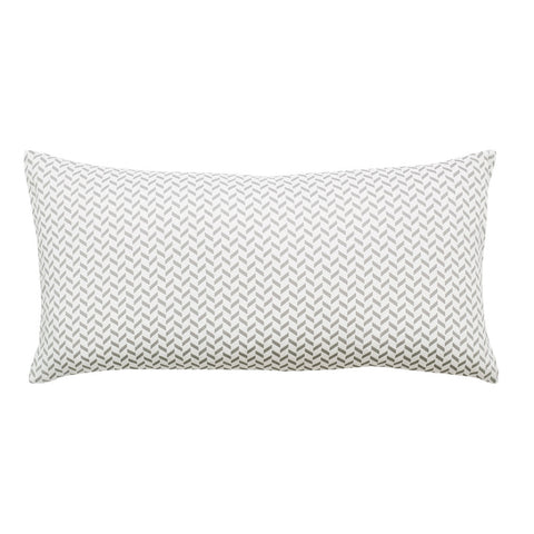 Grey Herringbone Throw Pillow