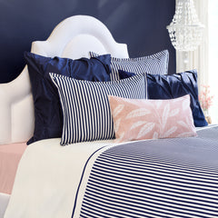 Great site for designer bedding | The Larkin Navy Blue