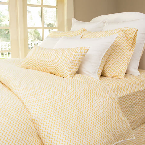 Bedroom inspiration and bedding decor | The Larkin Yellow Duvet Cover | Crane and Canopy