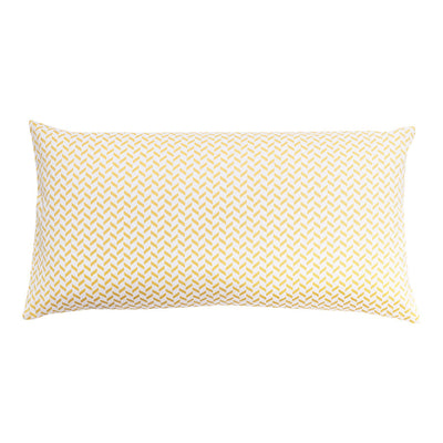 Yellow Herringbone Throw Pillow