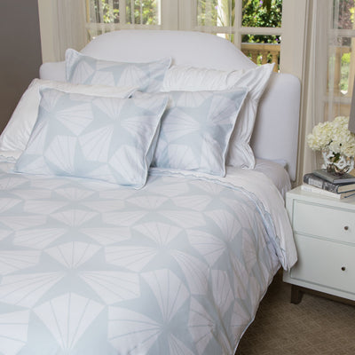 Bedroom inspiration and bedding decor | The Taylor Light Blue Duvet Cover | Crane and Canopy
