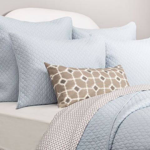 Bedroom inspiration and bedding decor | The Cloud Light Blue Quilt & Sham Duvet Cover | Crane and Canopy