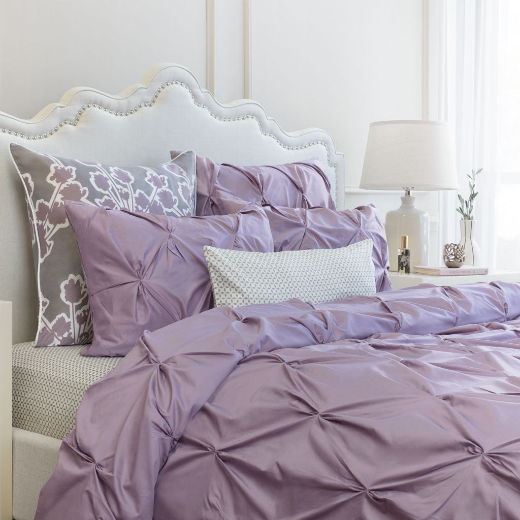 bedroom inspiration and bedding decor the valencia lilac pintuck duvet cover crane and canopy - Liliac Bedding