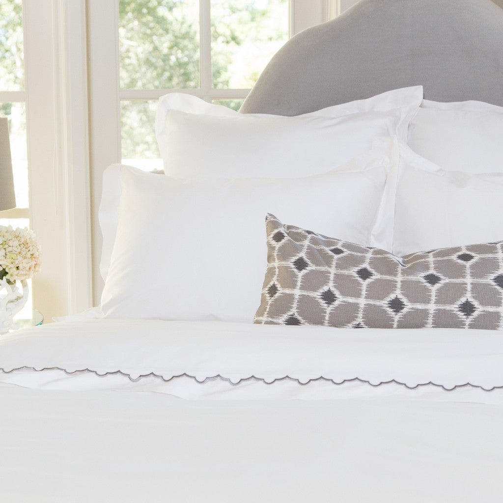Bedroom inspiration and bedding decor | The Peninsula Soft White Duvet Cover | Crane and Canopy