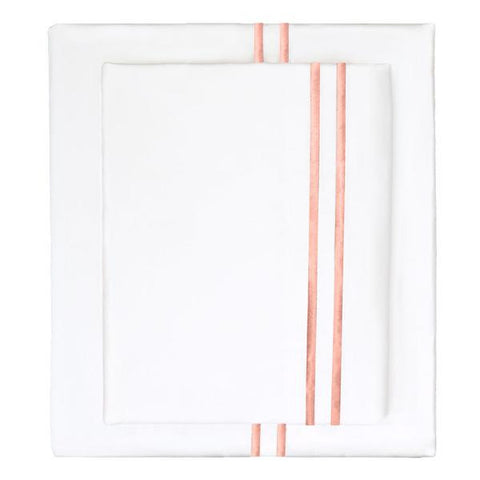 Bedroom inspiration and bedding decor | The Coral Lines Embroidered Sheet Sets | Crane and Canopy